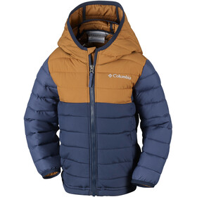 Columbia Powder Lite Hooded Jacket Boys Collegiate Navy/Canyon Gold